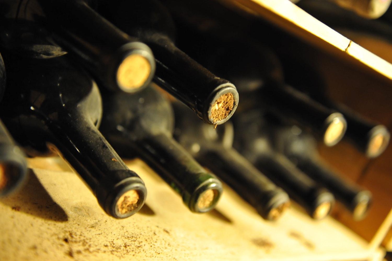 Les bouteilles de la cave